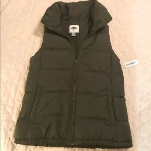 NWT Old Navy Olive Green Vest